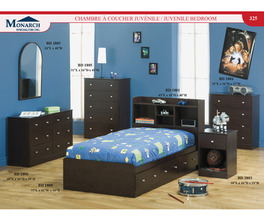CAPPUCCINO BOOKCASE HEADBOARD FOR MATES BED   PG325