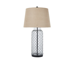 GLASS TABLE LAMP (1/CN) SHARMAYNE SIGNATURE