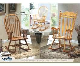 LIGHT OAK 45H ROCKING CHAIR   PG124