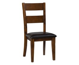 SLATBACK SIDE CHAIR W/UPH SEAT (2/CTN)