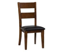 SLATBACK SIDE CHAIR W/UPH SEAT (2/CTN)