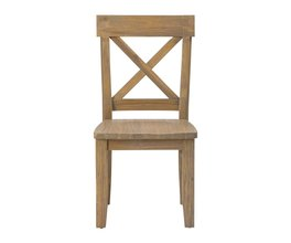 X BACK SIDE CHAIR (2/CTN)