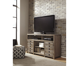 TV STAND WITH FIREPLACE OPTION KEEBLEN SIGNATURE
