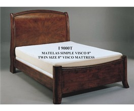 VISCO 8 TWIN LONG MATTRESS WITH A VELOUR COVER