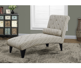 CHAISE LOUNGER - SANDSTONE / GREY  MAZE  FABRIC