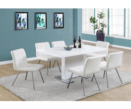 DINING TABLE - 35X 60 / HIGH GLOSSY WHITE