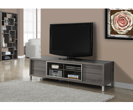 TV STAND - 70L / DARK TAUPE EURO STYLE