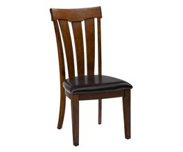 CONTOURED SLATBACK DINING CHAIR W/UPHOLSTERED SEAT (2/CTN)