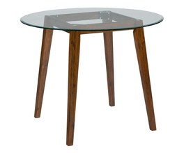 BASE FOR ROUND COUNTER HEIGHT GLASS TOP TABLE