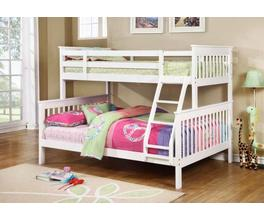 TWIN/FULL BUNK BED (WHITE)