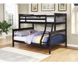 TWIN/FULL BUNK BED (BLACK)