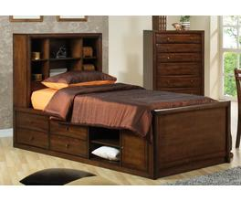 FULL CHEST BED (WARM BROWN)