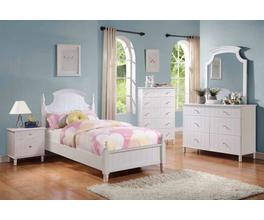 HEADBOARD & FOOTBOARD,F;/WHITE,BOX 1 OF 2