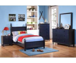 HEADBOARD & FOOTBOARD,;NAVY,BOX 1 OF 2