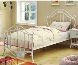 TWIN SIZE BED (WHITE)