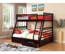 TWIN/FULL BUNK BED (CAPPUCCINO)