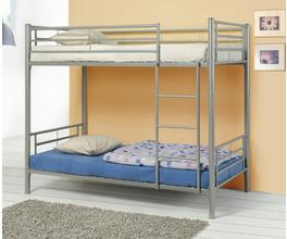 TWIN/TWIN BUNK BED (SILVER)