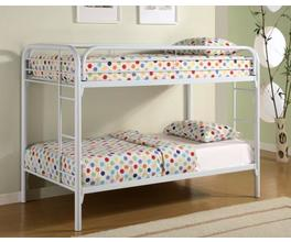 TWIN/TWIN BUNK BED (WHITE)