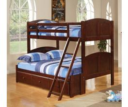 TWIN/FULL BUNK BED (CHESTNUT)
