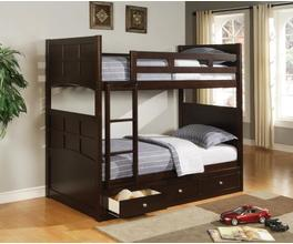 TWIN/TWIN BUNK BED (CAPPUCCINO)