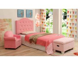 TWIN HEADBOARD (PINK/CHEVRON)