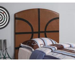BASKETBALL HEADBOARD (BROWN AND BLACK)