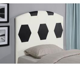SOCCER BALL HEADBOARD (WHITE AND BLACK)