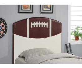 FOOTBALL HEADBOARD (BROWN AND WHITE)