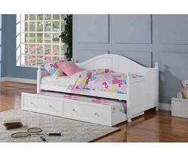 TWIN DAYBED WITH TRUNDLE (WHITE)