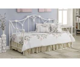 TWIN METAL DAYBED (WHITE)