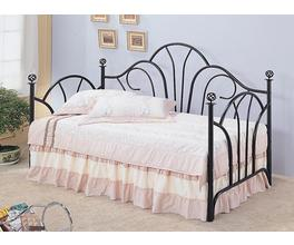 TWIN METAL DAYBED (BLACK)