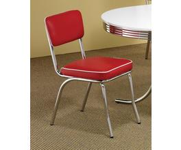 SIDE CHAIR (RED/CHROME)