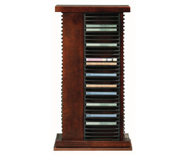 REVOLVING DVD TOWER, 136 DVD CAPACITY, ROTATING BASE*GLASS*NG*FINSISH*CC, CM, CO, CR, EC, GO, HG, IV, UN