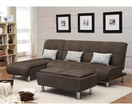 CHAISE SOAFA BED (BROWN)