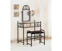2PC VANITY SET (BLACK)