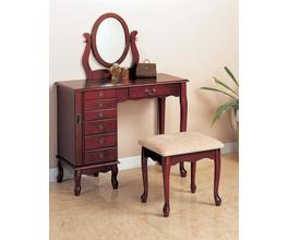 2PC VANITY SET (BROWN RED)