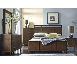 KING WOOD PANEL HEADBOARD